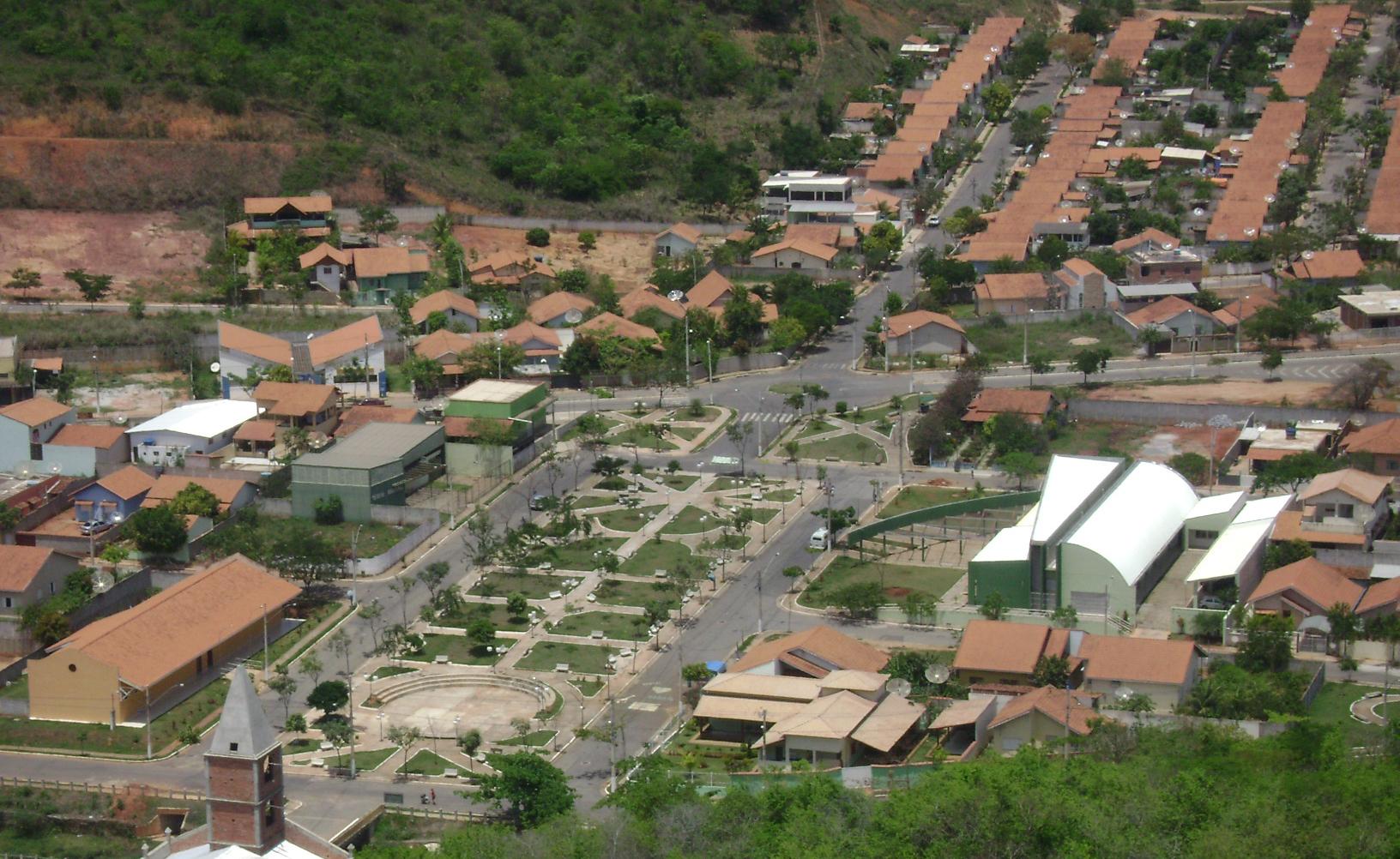 Vista parcial da cidade de Itueta